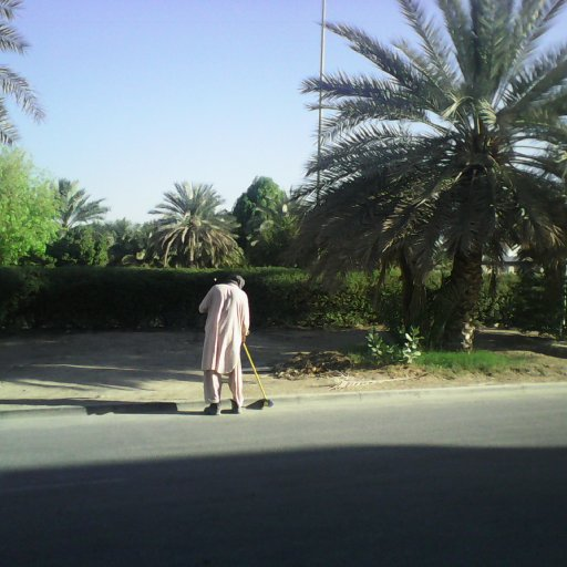 Al Ain. Pakistani street sweeper